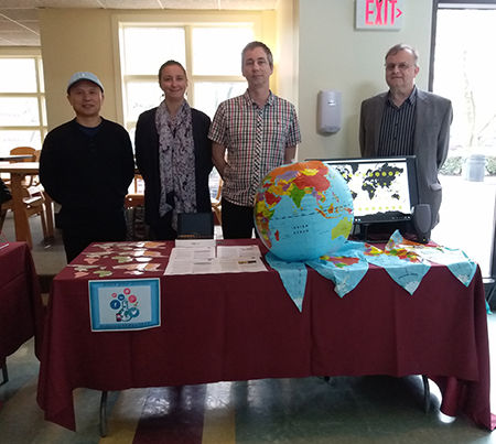 CIESIN staff at an Earth Day Fair at St. Thomas Aquinas College