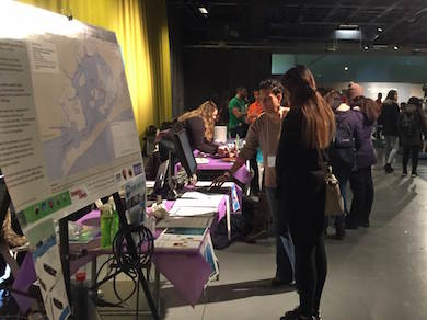 CIESIN table at the Girls in Science and Engineering Day March 11 at the Intrepid Museum