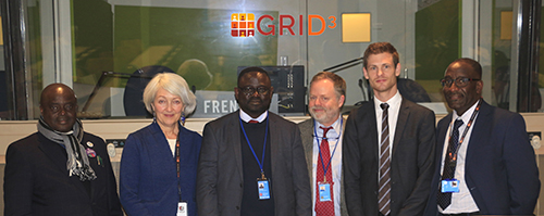 "Participants in the launch of a new project, ""Geo-referenced Infrastructure and Demographic Data for Development (GRID3), at at a side event of the 49th session of the United Nations Statistical Commission held March 7 in New York City."