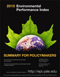 Cover page of EPI 2010 Summary for Policymakers