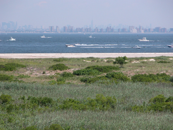 View of NYC across Jamaica Bay