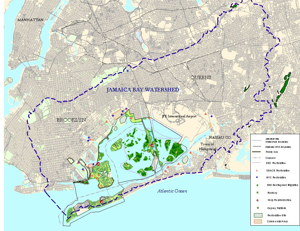 Jamaica bay research and management information network maps page the extensive jamaica bay watershed jpg gumiabroncs Gallery